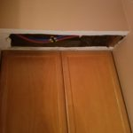 Drywall repair - bathroom ceiling before drywall installation