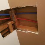 Drywall repair - bathroom ceiling & wall before drywall installation