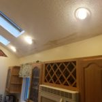 Drywall repair kitchen ceiling before plaster & texture work
