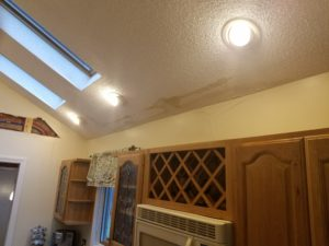 Drywall repair kitchen ceiling before plaster & texture work