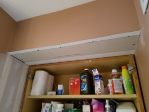 Drywall repair - bathroom wall & ceiling after drywall installation