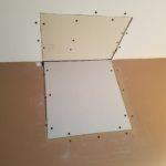 Drywall repair - bathroom wall & ceiling after drywall installation