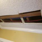 Drywall repair foyer ceiling - Hole before drywall installation