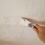 Drywall repair foyer ceiling - Applying ceiling texture to foyer ceiling repair