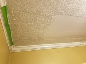 Drywall repair - Foyer ceiling repair before ceiling texture was applied