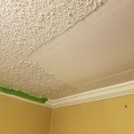 Drywall repair - Foyer ceiling repair before ceiling texture was applied