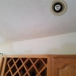 Drywall repair & re-texturing - kitchen wall & ceiling - Finished